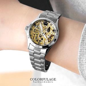 Valentino范倫鐵諾鏤雕機械錶