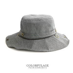 可折疊收納圓邊漁夫帽