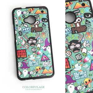 HTC ONE M7造型塗鴉手機殼