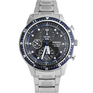 SEIKO炫藍三眼計時賽車腕錶