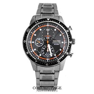 SEIKO炫采三眼計時賽車腕錶
