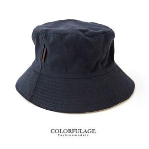 簡約帆布深藍色漁夫帽