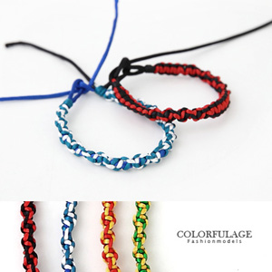 鮮艷民族風編織幸運繩手環