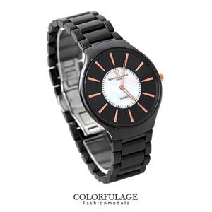 Valentino范倫鐵諾黑色陶瓷錶