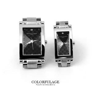 Valentino范倫鐵諾鏡面切割錶