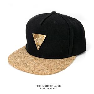 軟木塞帽沿金牌三角板帽