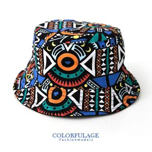 塗鴉風雙面設計漁夫帽