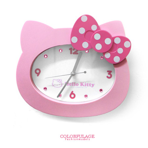Hello Kitty凱蒂貓大頭造型時鐘