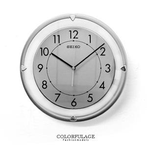 SEIKO典雅透明滑動式秒針時鐘