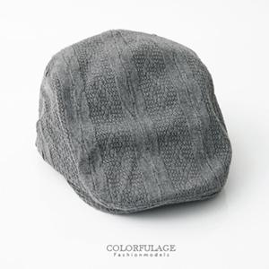 英倫毛呢毛線編織扁帽