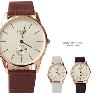 手錶簡約刻度獨立秒針錶