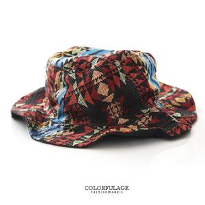 熱帶民族風棉質漁夫帽