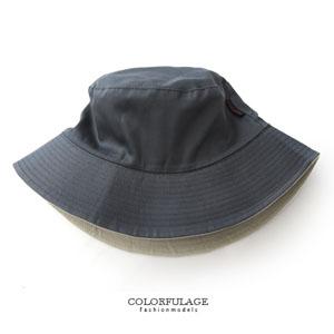 素面棉質丹寧原色漁夫帽