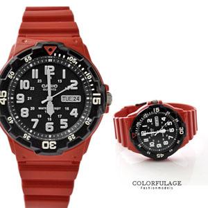 CASIO卡西歐黑紅軍裝手錶