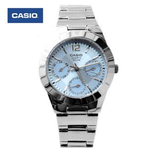 CASIO卡西歐水藍真三眼手錶