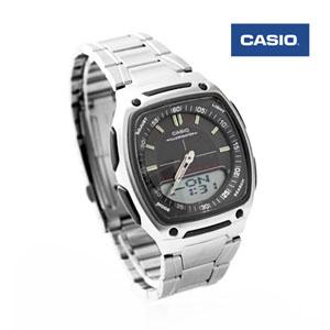 CASIO卡西歐方型黑雙顯手錶