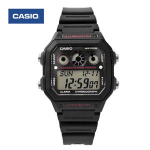 CASIO卡西歐黑紅電子錶