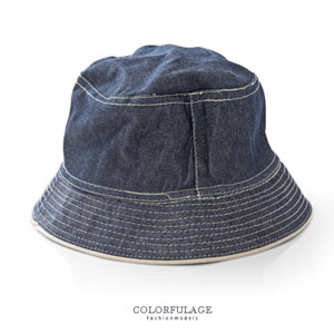經典刷色牛仔布料漁夫帽
