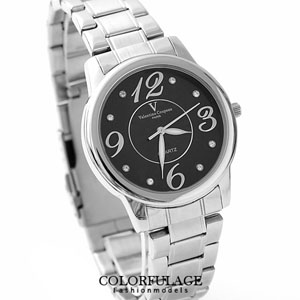 Valentino范倫大數字鐵錶