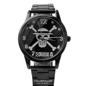 海賊王銀色海賊全黑腕錶