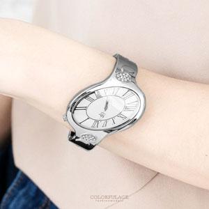 獨特不對稱橢圓造手環式腕錶
