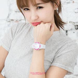 手錶馬卡龍圓型膠錶