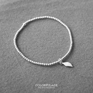 葉子造型925純銀手鍊