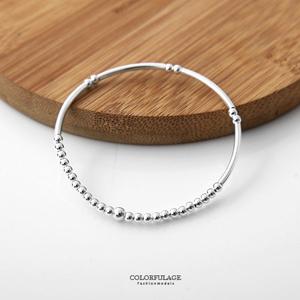銀管造型925純銀手鍊