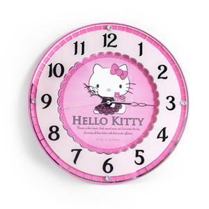 Hello kitty凱蒂貓粉紅蕾絲掛鐘