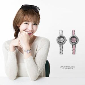 小巧水鑽仿陶瓷腕錶