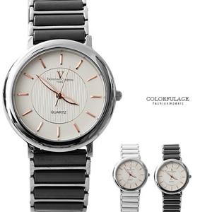 范倫Valentino玫瑰金陶瓷錶