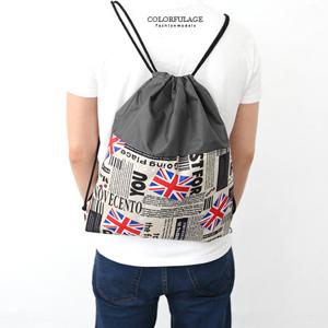 經典國旗尼龍束口袋後背包