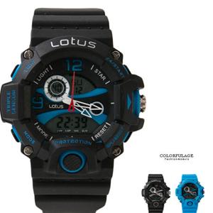 運動風大錶殼多功能電子錶