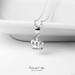 925純銀鏤空皇冠項鍊