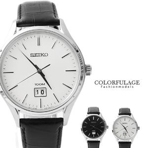 SEIKO手錶防水100米真皮