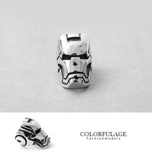 鋼鐵人面具立體造型戒指