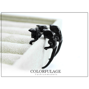韓系單品動物豹耳環