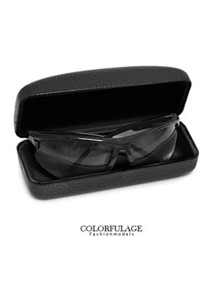 質感眼鏡盒 皮革紋路時尚
