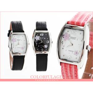 Valentino范倫鐵諾櫻花腕錶