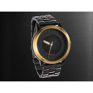 NIXON時尚都會黑金腕錶