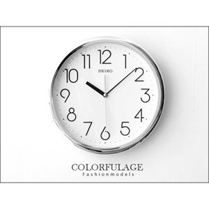 SEIKO精工時鐘 簡約刻度時尚銀