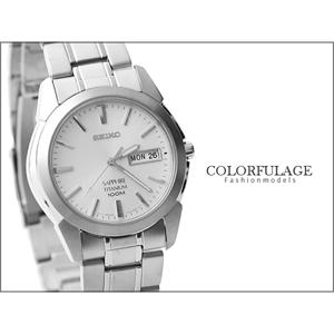 SEIKO 精工錶鈦金屬材質手錶
