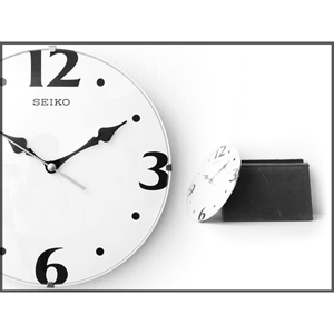 SEIKO精工時鐘 座掛兩用靜音秒針