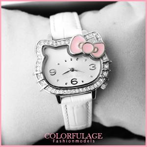 Hello Kitty凱蒂貓 蝴蝶結水鑽錶
