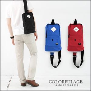 潮牌輕量防潑水肩背包.側背包