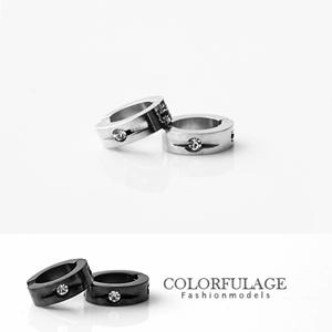 西德鋼材質抗過敏夾式耳環