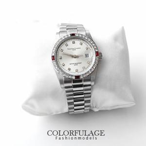 Valentino范倫鐵諾方形紅鑽錶