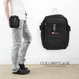 COM全黑側背包掛包