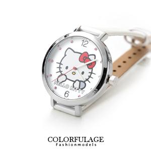 凱蒂貓大頭簡約水鑽真皮手錶