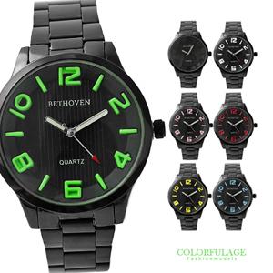 型男專屬浮雕鐵錶